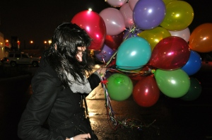 """Steph and Her Balloons"" New Year's 2011"